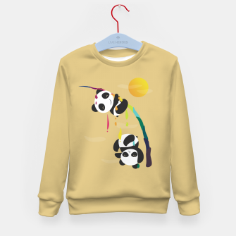 Thumbnail image of Pandas meet a strange rainbow Kid's sweater, Live Heroes
