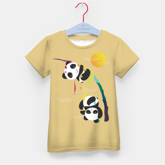 Thumbnail image of Pandas meet a strange rainbow Kid's t-shirt, Live Heroes