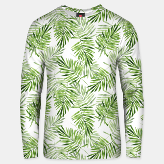 Miniaturka Green palm leaves Unisex sweater, Live Heroes