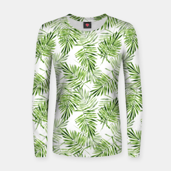 Miniaturka Green palm leaves Women sweater, Live Heroes
