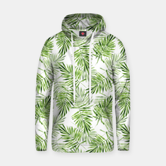 Miniaturka Green palm leaves Hoodie, Live Heroes