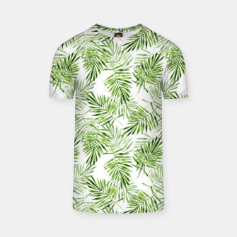 Miniaturka Green palm leaves T-shirt, Live Heroes