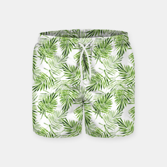 Miniaturka Green palm leaves Swim Shorts, Live Heroes