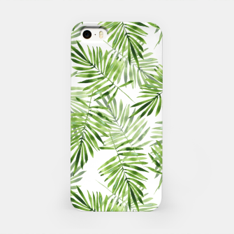 Miniaturka Green palm leaves iPhone Case, Live Heroes