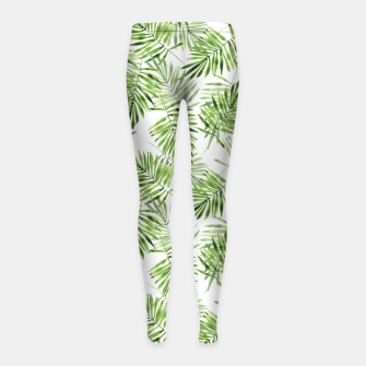 Miniaturka Green palm leaves Girl's leggings, Live Heroes