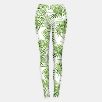 Miniaturka Green palm leaves Leggings, Live Heroes