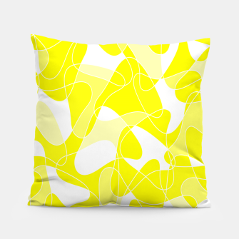 Imagen en miniatura de Abstract pattern - yellow and white. Pillow, Live Heroes