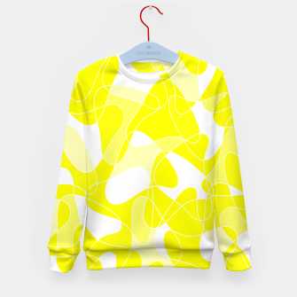 Imagen en miniatura de Abstract pattern - yellow and white. Kid's sweater, Live Heroes