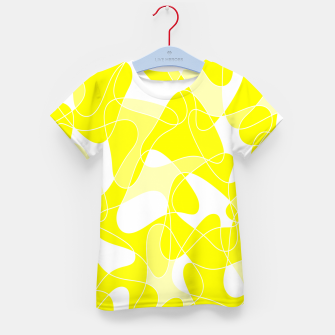 Imagen en miniatura de Abstract pattern - yellow and white. Kid's t-shirt, Live Heroes
