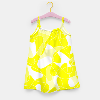 Imagen en miniatura de Abstract pattern - yellow and white. Girl's dress, Live Heroes