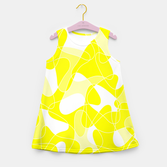 Imagen en miniatura de Abstract pattern - yellow and white. Girl's summer dress, Live Heroes