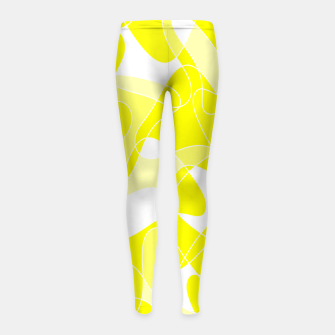 Imagen en miniatura de Abstract pattern - yellow and white. Girl's leggings, Live Heroes