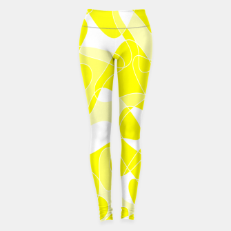 Imagen en miniatura de Abstract pattern - yellow and white. Leggings, Live Heroes