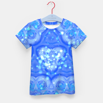 Thumbnail image of Blue Kaleidoscope T-Shirt für kinder, Live Heroes