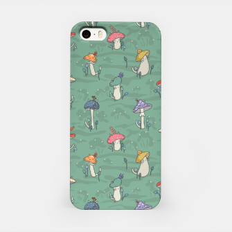 Miniatur Afternoon forest meeting of the mushroom cats iPhone Case, Live Heroes