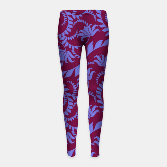 Miniatur FLORAL DESIGN 157 Girl's leggings, Live Heroes