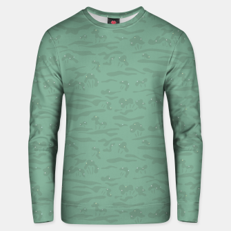 Miniaturka Flowing time at the green mossy marshes Unisex sweater, Live Heroes