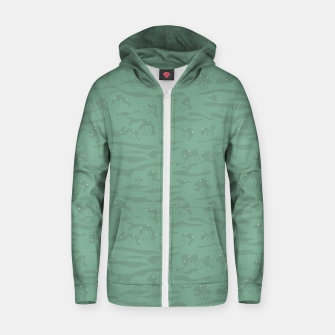 Miniaturka Flowing time at the green mossy marshes Zip up hoodie, Live Heroes