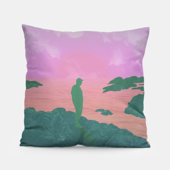 Thumbnail image of On The Rocks - Pastel Variant Pillow, Live Heroes