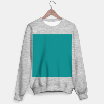 Miniatur color teal Sweater regular, Live Heroes