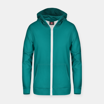 Miniatur color teal Zip up hoodie, Live Heroes