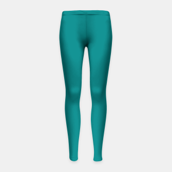 Miniatur color teal Girl's leggings, Live Heroes