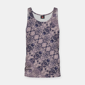 Miniatur Violet Textured Mosaic Ornate Print Tank Top, Live Heroes