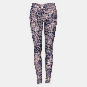 Thumbnail image of Violet Textured Mosaic Ornate Print Leggings, Live Heroes