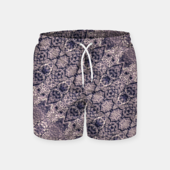 Thumbnail image of Violet Textured Mosaic Ornate Print Swim Shorts, Live Heroes