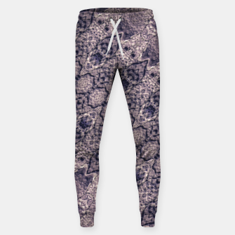 Thumbnail image of Violet Textured Mosaic Ornate Print Sweatpants, Live Heroes