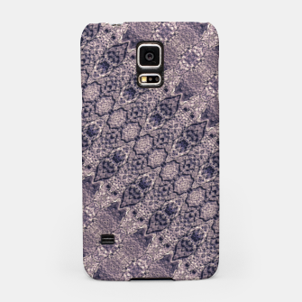 Miniatur Violet Textured Mosaic Ornate Print Samsung Case, Live Heroes
