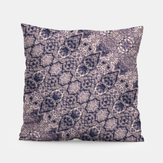 Miniatur Violet Textured Mosaic Ornate Print Pillow, Live Heroes