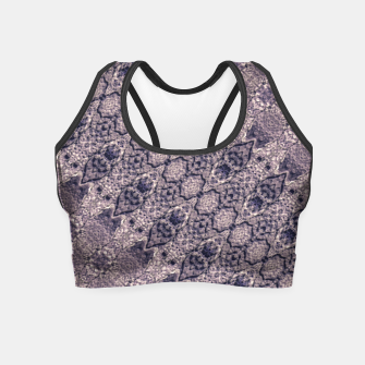 Thumbnail image of Violet Textured Mosaic Ornate Print Crop Top, Live Heroes