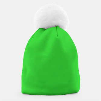 Miniatur color lime green Beanie, Live Heroes