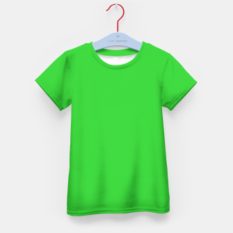 Miniatur color lime green Kid's t-shirt, Live Heroes