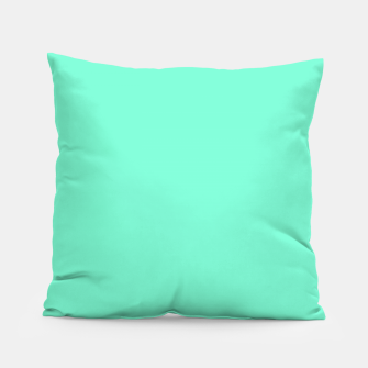 Thumbnail image of color aquamarine Pillow, Live Heroes
