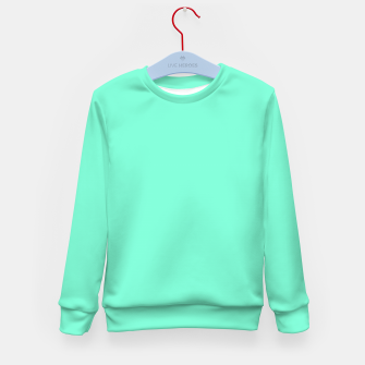 Thumbnail image of color aquamarine Kid's sweater, Live Heroes