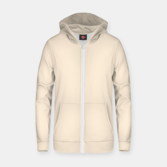 Thumbnail image of color antique white Zip up hoodie, Live Heroes