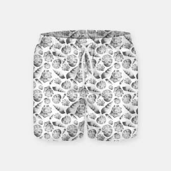 Miniaturka Seashells. Black and white  Swim Shorts, Live Heroes