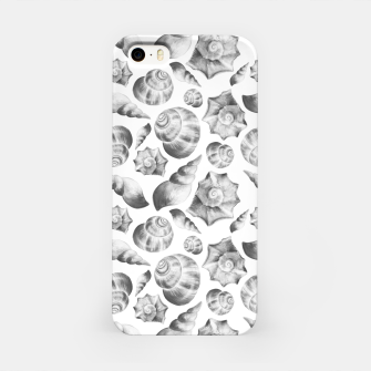 Miniaturka Seashells. Black and white  iPhone Case, Live Heroes