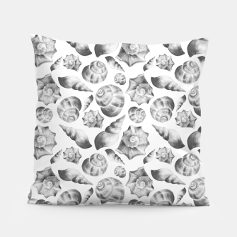 Miniaturka Seashells. Black and white  Pillow, Live Heroes