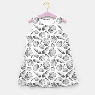 Miniaturka Seashells. Black and white  Girl's summer dress, Live Heroes