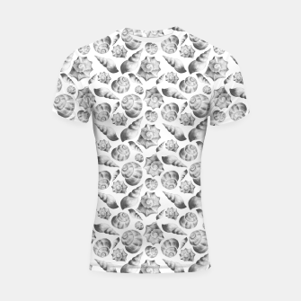 Miniaturka Seashells. Black and white  Shortsleeve rashguard, Live Heroes