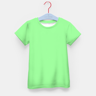 Thumbnail image of color pale green Kid's t-shirt, Live Heroes
