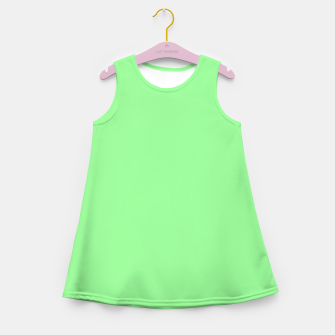 Thumbnail image of color pale green Girl's summer dress, Live Heroes