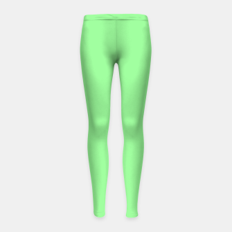 Thumbnail image of color pale green Girl's leggings, Live Heroes