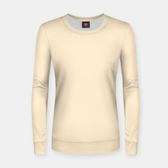 Miniatur color blanched almond Women sweater, Live Heroes