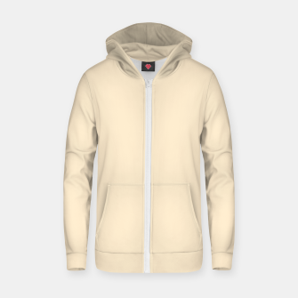 Miniatur color blanched almond Zip up hoodie, Live Heroes