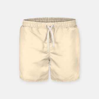 Miniatur color blanched almond Swim Shorts, Live Heroes