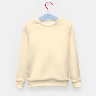 Miniatur color blanched almond Kid's sweater, Live Heroes